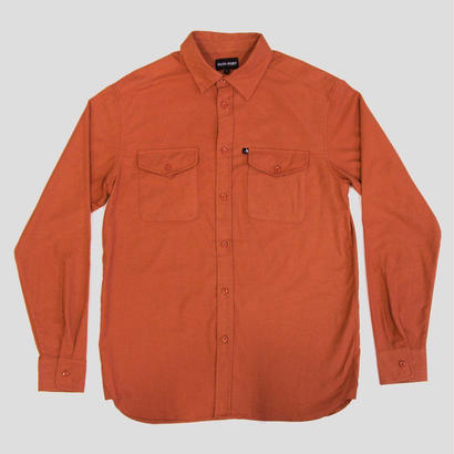 PASS~PORT - WORKERS LATE FLANNELETTE SHIRT ORANGE