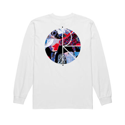 POLAR SKATE CO. ORCHID FILL LOGO LONGSLEEVE White