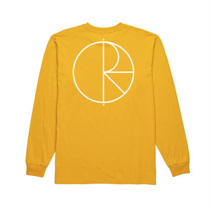 POLAR SKATE CO. STROKE LOGO LONGSLEEVE YELLOW / WHITE