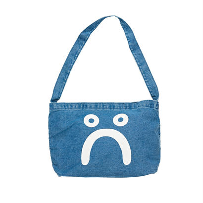 POLAR SKATE CO. HAPPY SAD DENIM TOTE BAG 70'S BLUE