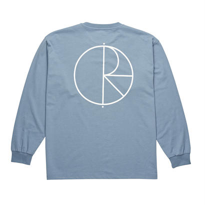POLAR SKATE CO. STROKE LOGO LONGSLEEVE Captain's Blue