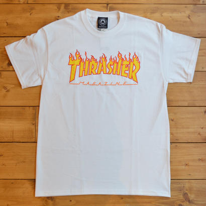 THRASHER Flame Logo T-Shirt - White
