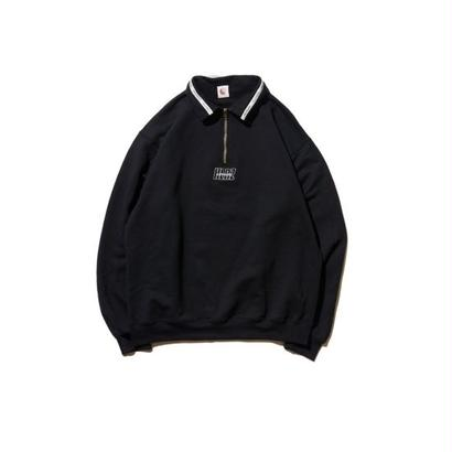 Hellrazor Authentic Neck Lining Half Zip Sweater - Black