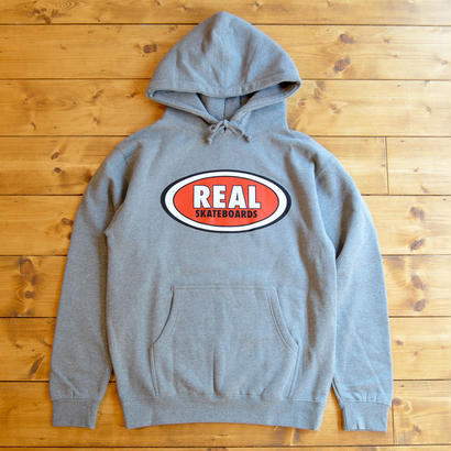 REAL SKATEBOARDS OG OVAL HOODIE GREY