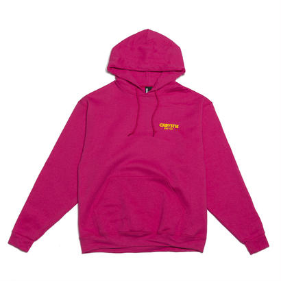 CHRYSTIE NYC CHRYSTIE OG Logo Hoodie Hot Pink/Yellow