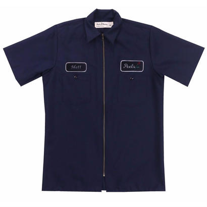 Peels Full-Zip Work Shirt Navy