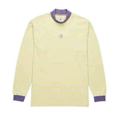 POLAR SKATE CO. STRIPED MOCKNECK LIME FIESTA