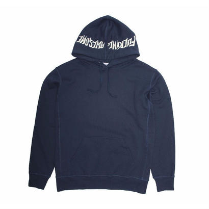 Fucking Awesome Embroidered Logo Hood - Navy