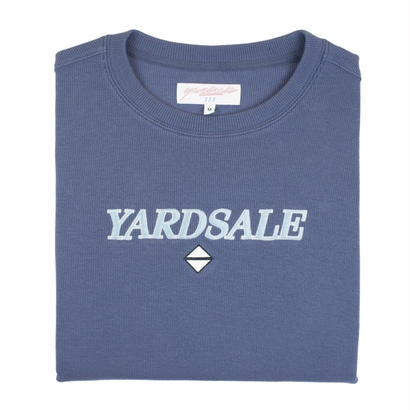 YARDSALE Blue Holme-lacey ribbed sweat