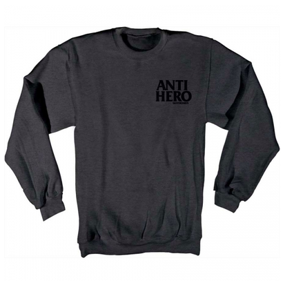 ANTI HERO BLACK HERO EMBLEM CREW HEATHER CHARCOAL