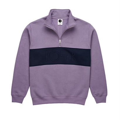 POLAR SKATE CO. BLOCK ZIP SWEATSHIRT LILAC / NAVY