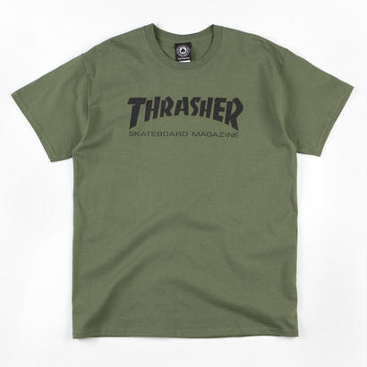 Thrasher Magazine logo tee in Army Green