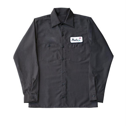 Peels NYC  Rose Patch Long Sleeve Work Shirt Stone