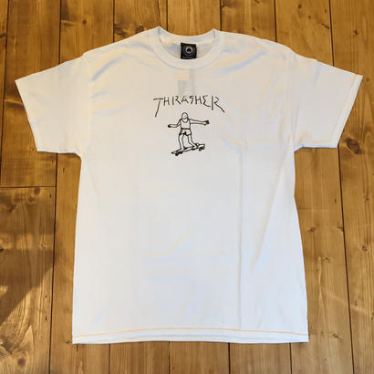 Thrasher Gonz Tee By Mark Gonzales - White