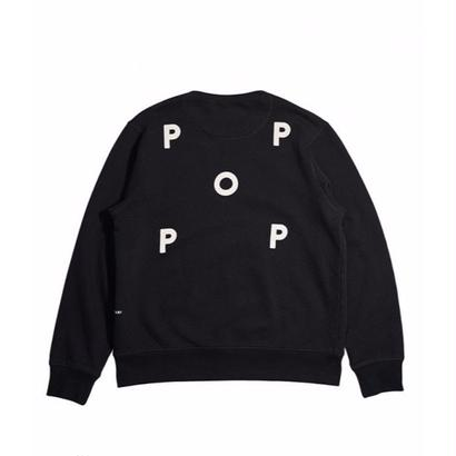 POP TRADING CO. LOGO CREWNECK SWEAT BLACK