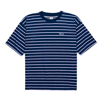 POLAR SKATE CO. STRIPED TERRY SURF TEE  Navy / Violet