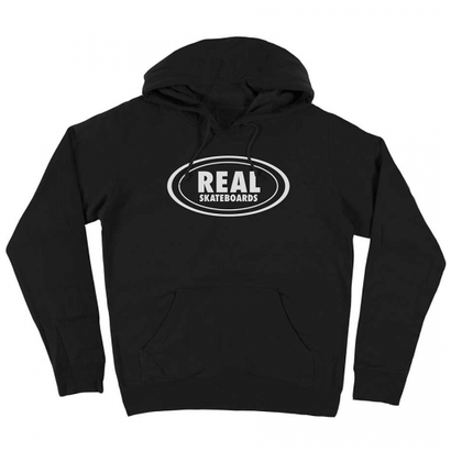 REAL OG OVAL HOODY BLACK/GREY