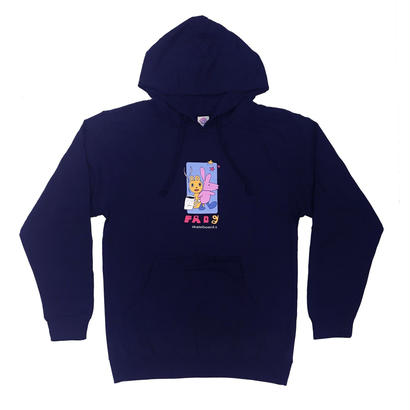 Frog Skateboards Navy Bunny Hoody