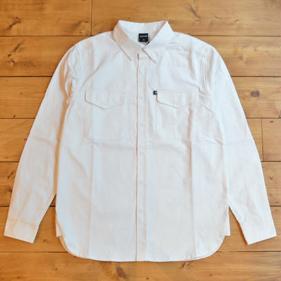 """PASS~PORT """"WORKERS"""" HEAVY DRILL OVER SHIRT - WHT"""
