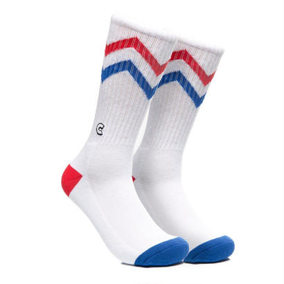 CHRYSTIE NYC ZIGZAG SOCKS / ROYAL BLUE & RED