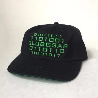 CLUBGEAR Code 6 Panel Hat - Black/Gr33n