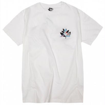 MAGENTA PARROT TEE WHITE