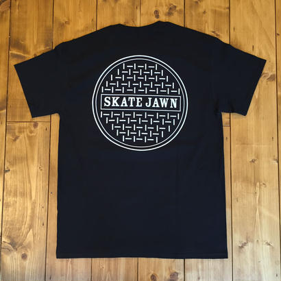Skate Jawn Sewer Tee - Black