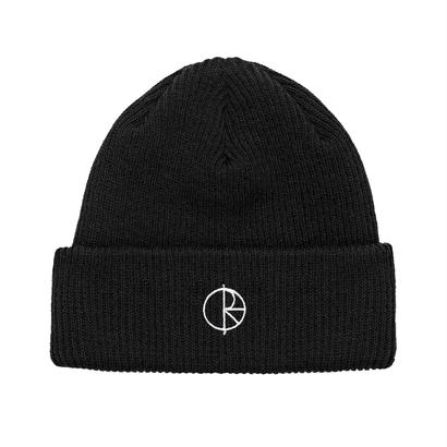 POLAR SKATE CO. STROKE LOGO BEANIE BLACK