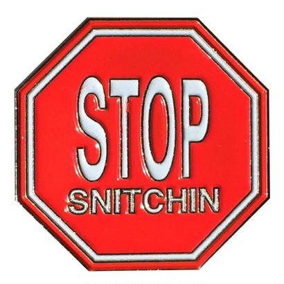 Tall Can Boyz STOP SNITCHIN PIN