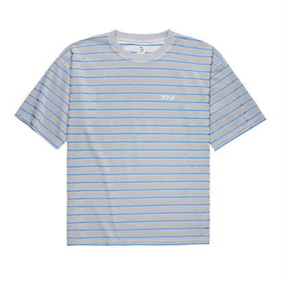 POLAR SKATE CO. STRIPED TERRY SURF TEE Light Grey / Blue