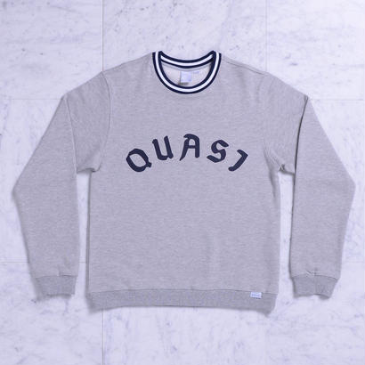 QUASI   League crew sweat [Heather Grey]