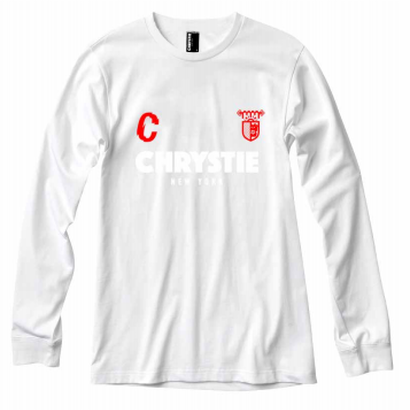 CSC X CHRYSTIE L/S SOCCER JERSEY WHITE