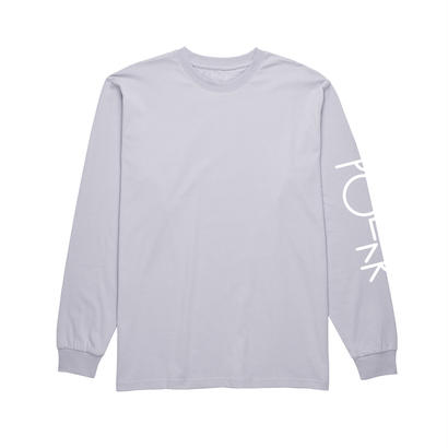 POLAR SKATE CO. SCRIPT LOGO LONGSLEEVE DUSTY LAVENDER / WHITE
