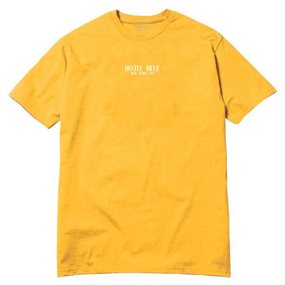 HOTEL BLUE  Logo Tee Gold