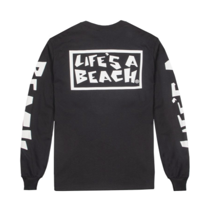 LIFE'S A BEACH LAB All Sleeve Black