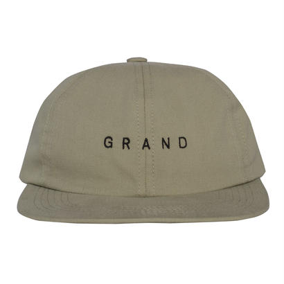 GRAND COLLECTION Small Logo Cap Cream