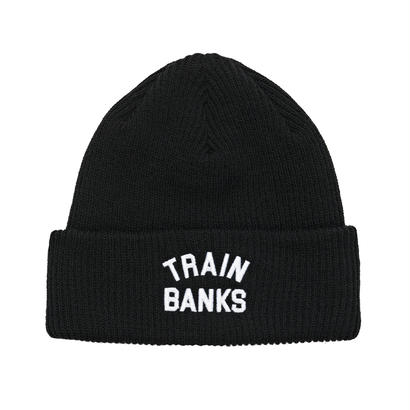 POLAR SKATE CO. TRAIN BANKS BEANIE BLACK