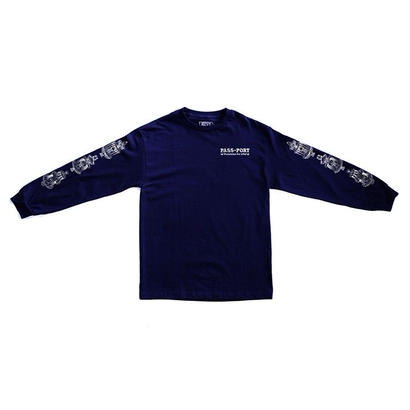 PASS~PORT - FOUNTAINS FOR LIFE L/S TEE - NAVY