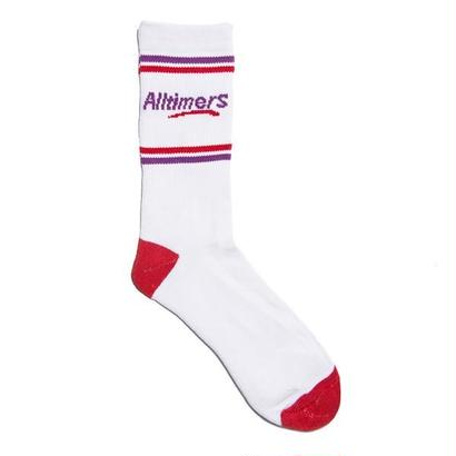 ASLLTIMERS ESTATE SOCK WHITE/RED/PURPLE