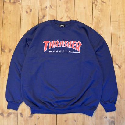THRASHER Skate Mag Crewneck - Navy