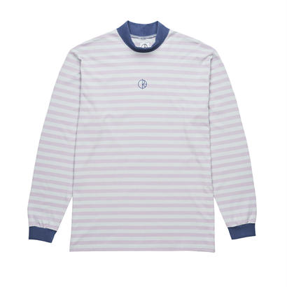 POLAR SKATE CO. STRIPED MOCKNECK DUSTY TROPEZ