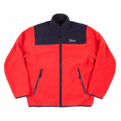 DIME POLAR FLEECE JACKET CORAL & NAVY