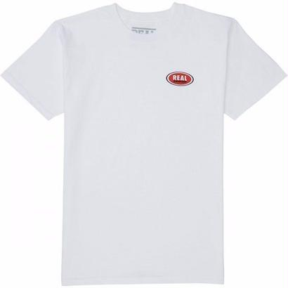 REAL SKATEBOARDS STOCK OVAL TEE WHITE