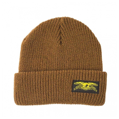 ANTI HERO BASIC EAGLE LABEL CUFF BEANIE BROWN