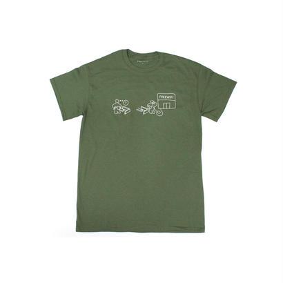 FREE WIFI Customer Service T-shirt Olive Green