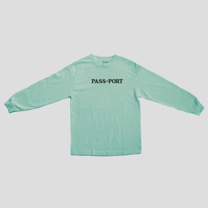 "PASS~PORT ""OFFICIAL EMBROID"" L/S TEE CELADON"