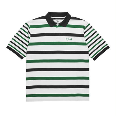 POLAR SKATE CO. HALLS RUGBY SHIRT  White / Green / Black