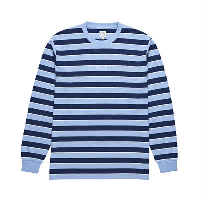 POLAR SKATE CO. STRIPED LONGSLEEVE POWDER BLUE / NAVY