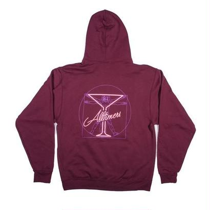 ALLTIMERS BEGINNING HOODY BURGUNDY
