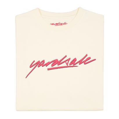 YARDSALE Tan script Tshirt